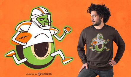 Design de camiseta de jogador de futebol americano abacate