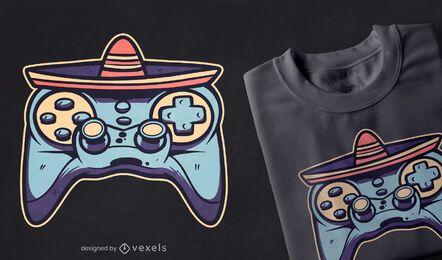 Design de camiseta com joystick Cinco de Mayo