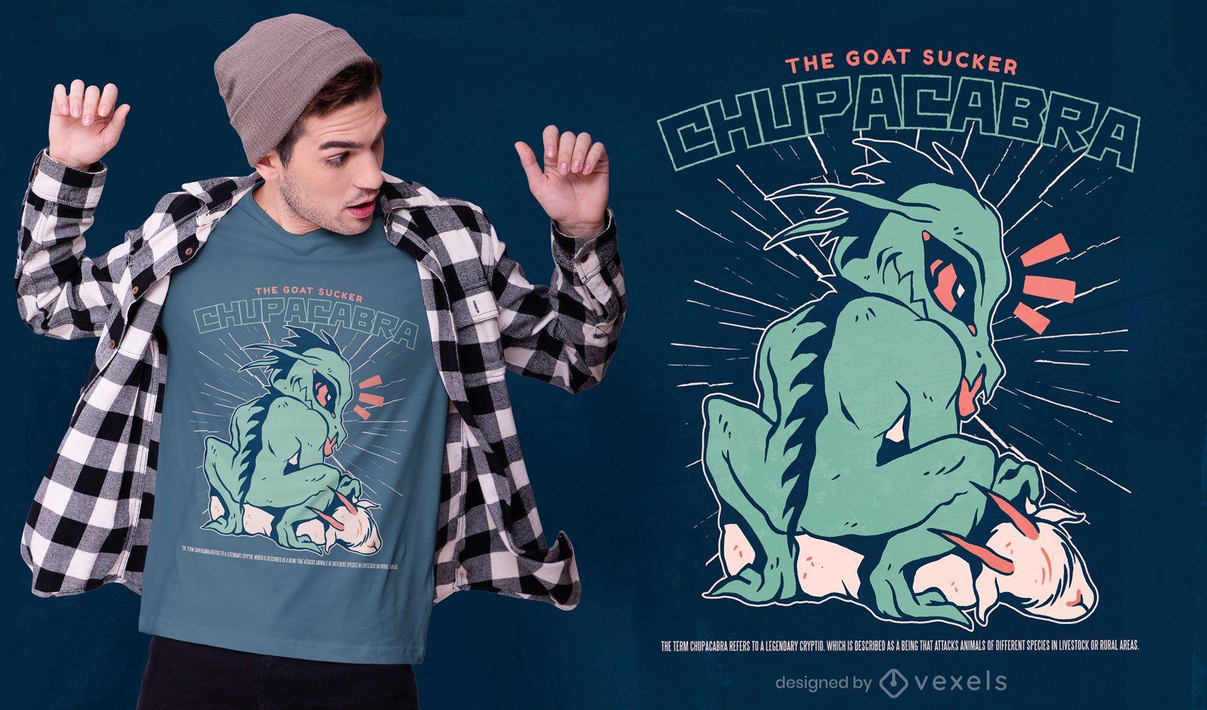 Chupacabra monster creature t-shirt design