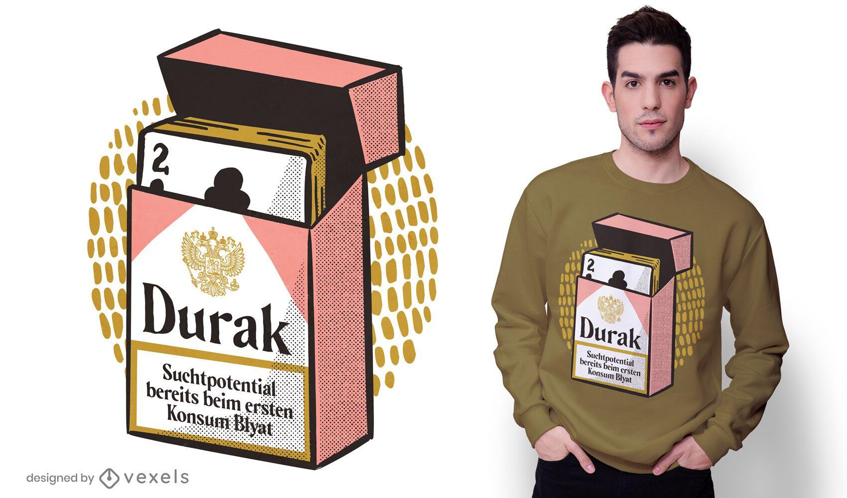 Pack de dise?o de camiseta de cartas rusas.
