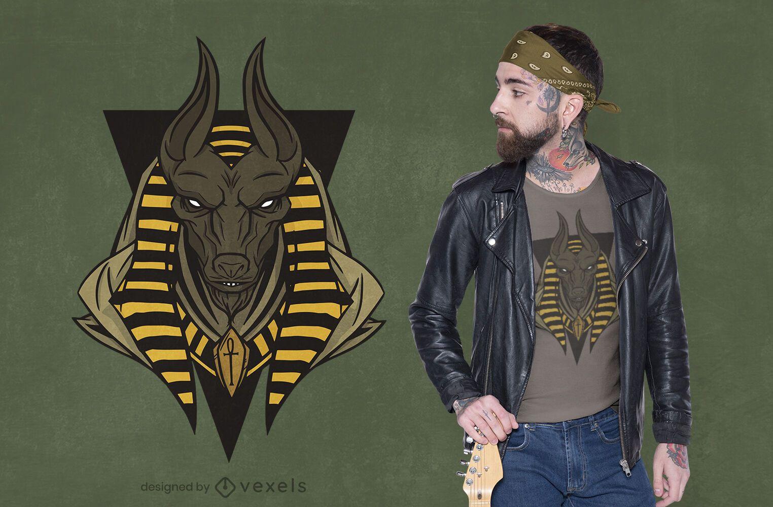 Anubis egyptian god t-shirt design