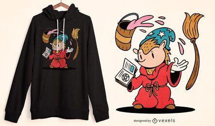 Diseño de camiseta de parodia de erizo.