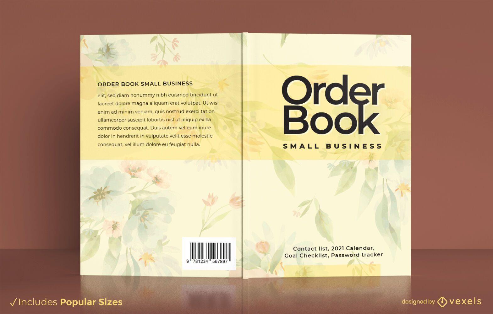 Dise?o de portada de libro de negocios de libro de pedidos