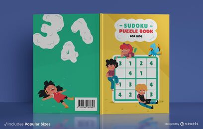 Sudoku children book cover design