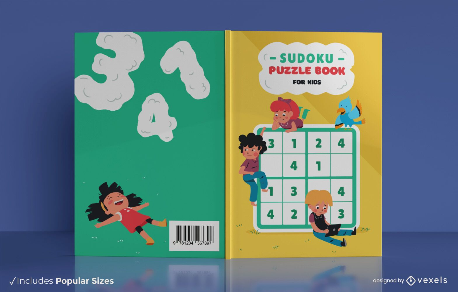 Diseño de portada de libro infantil Sudoku