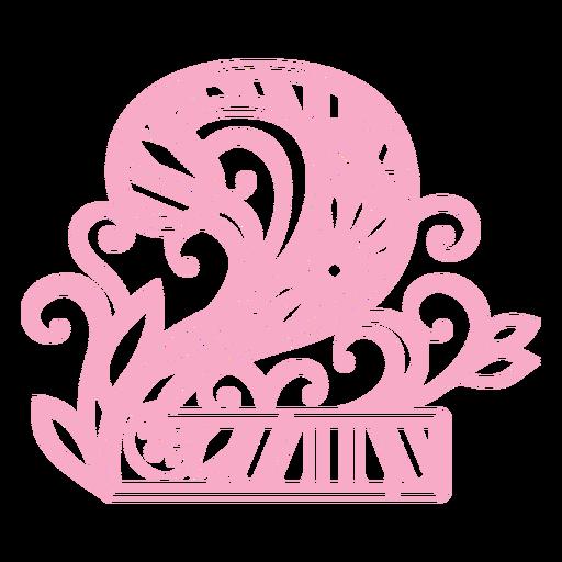 Floral alphabet number 2