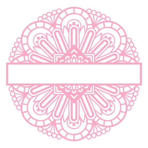 Pink mandala label