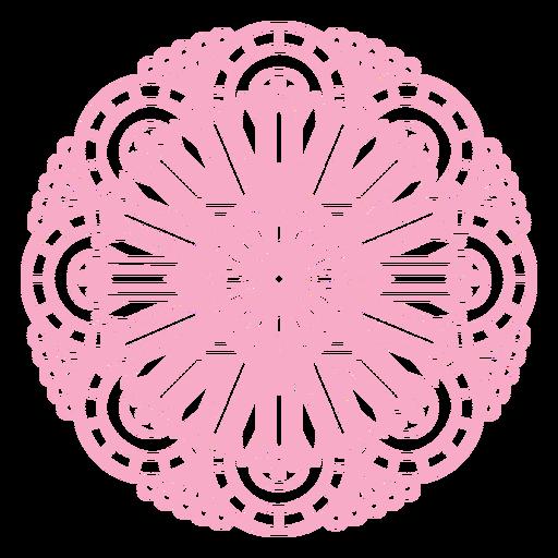 Pink mandala organic design