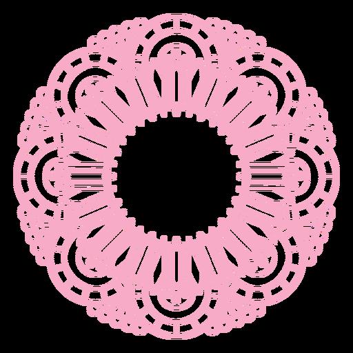 Pink mandala round label