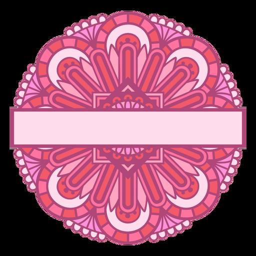 Pink mandala label color stroke