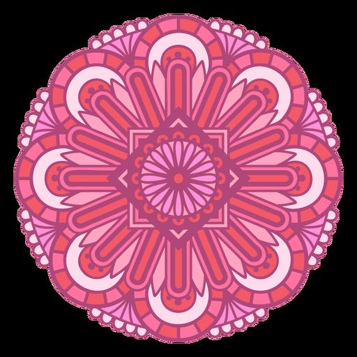 Pink mandala design color stroke