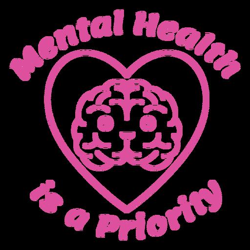 Mental health is a priority badge