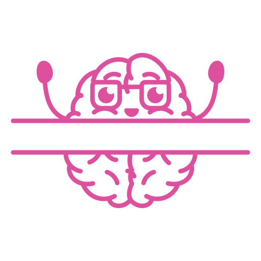 Cheering brain badge