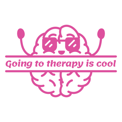 Going to therapy is cool badge