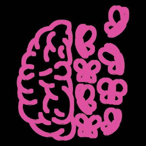 Brain with butterflies stroke