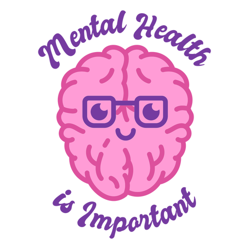 Brain mental health color stroke