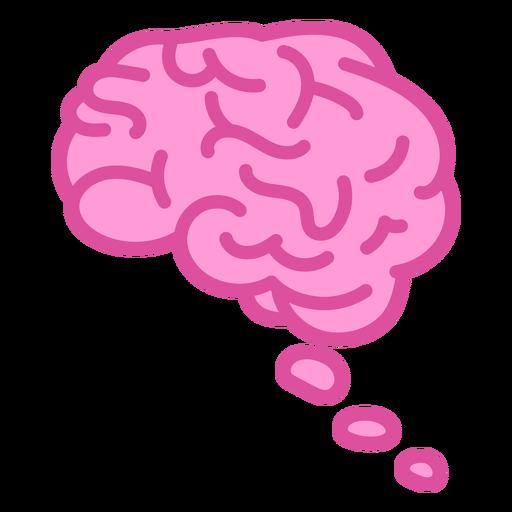 Brain dream color stroke