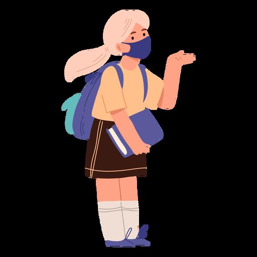 personajes escolares con mascaras - 1