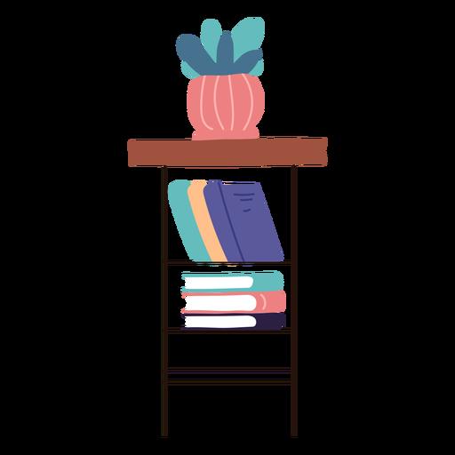 Shelf with books flat