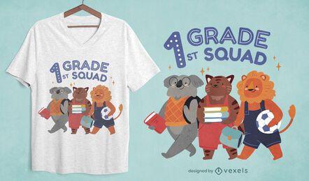 Design de t-shirt para esquadrão de primeira série