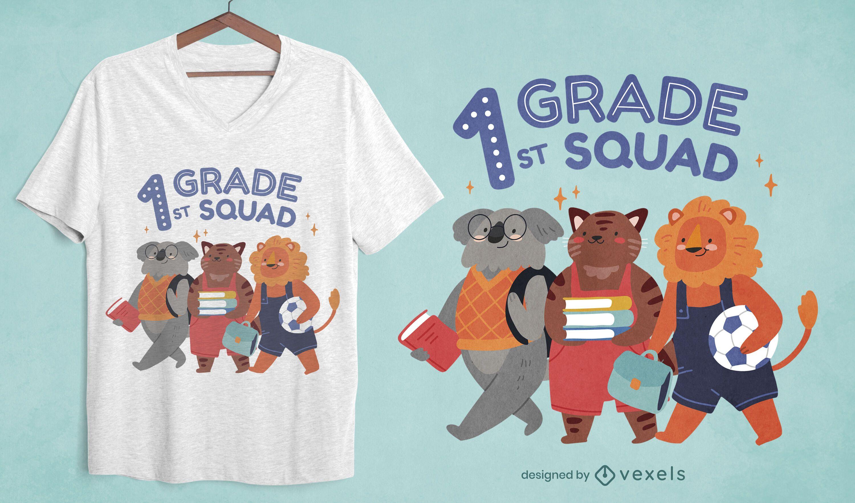 Diseño de camiseta de escuadrón de primer grado