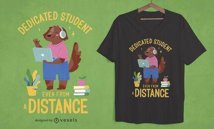 Diseño de camiseta de estudiante desde la distancia.