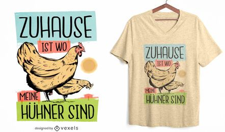 Chicken farm home quote t-shirt design