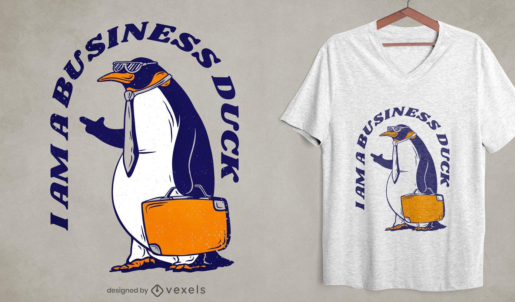 Penguin business duck t-shirt design