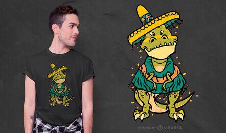 Cinco de mayo t-rex t-shirt design