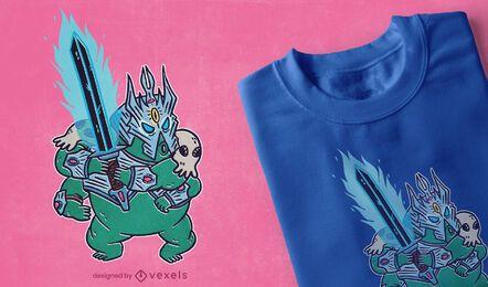 Diseño de camiseta Tardigrade warrior RPG