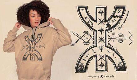Design abstrato de t-shirt do símbolo berbere