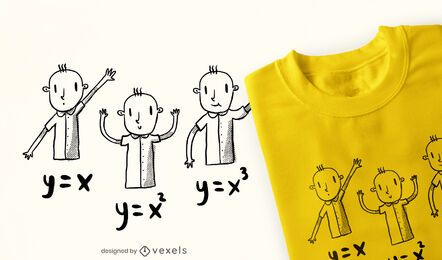 Diseño de camiseta de doodle de niños de ecuaciones matemáticas