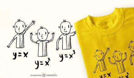 Math equations children doodle t-shirt design