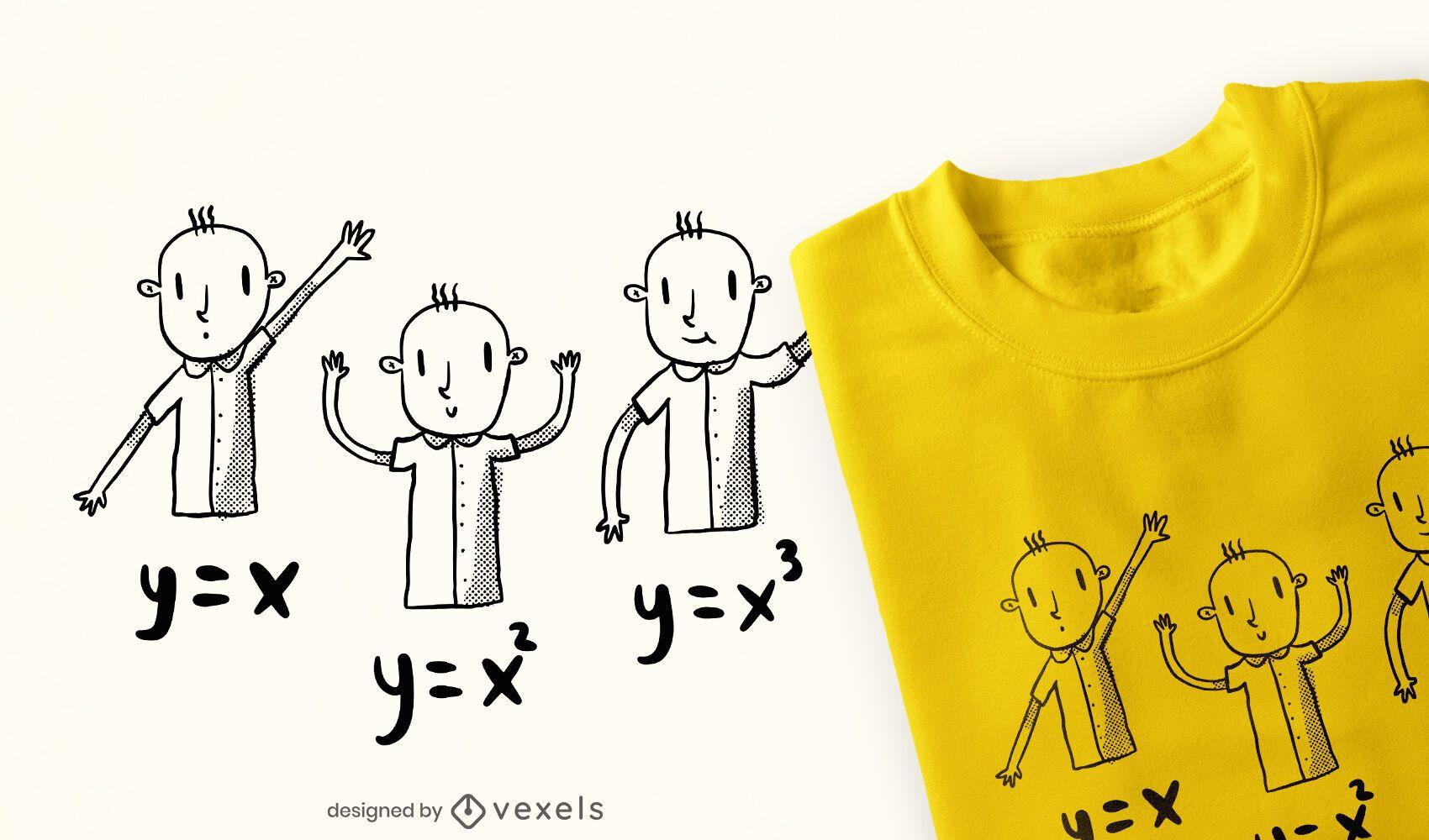 Equações matemáticas para crianças doodle design de camisetas