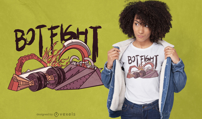 Robot fight mechanical t-shirt design