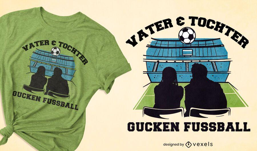 Father daughter soccer t-shirt design