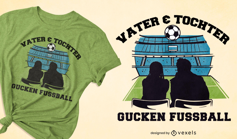 Design de t-shirt de futebol pai filha