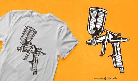 Diseño de camiseta de pistola pulverizadora