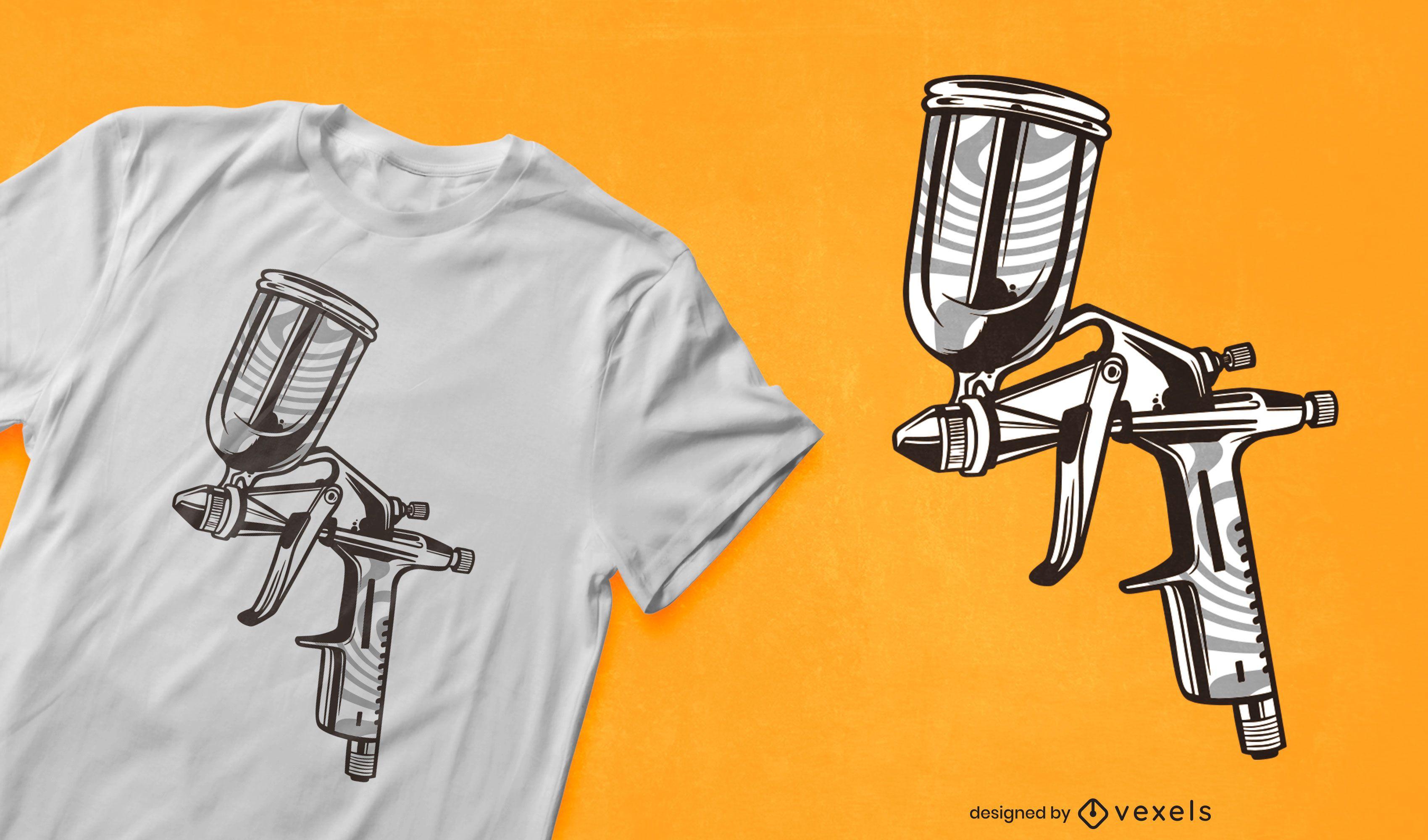Spray gun t-shirt design