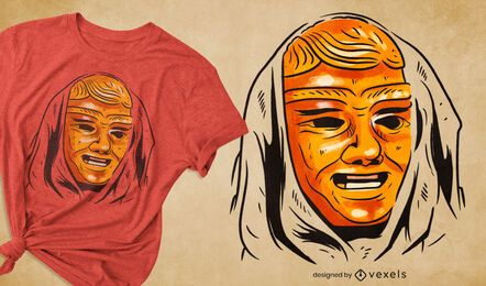 Diseño de camiseta de máscara festiva de carnaval.