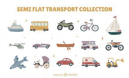 Conjunto de recogida de vehículos de transporte.