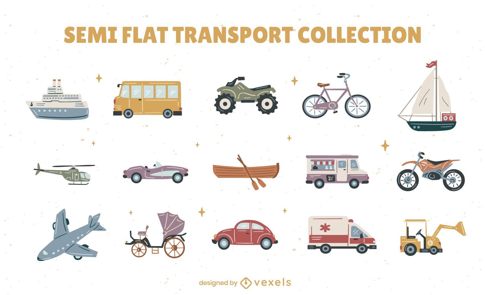 Transportation vehicle collection set