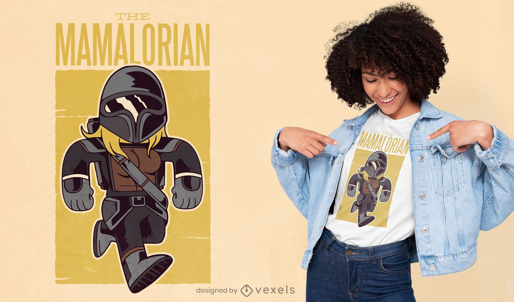 O design da t-shirt mamaloriana