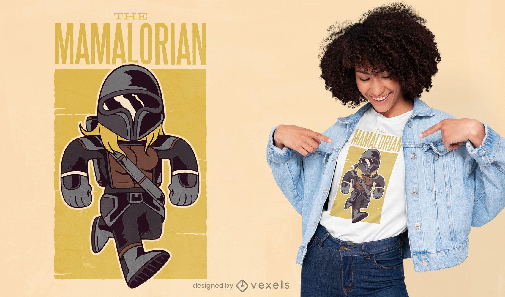The mamalorian t-shirt design