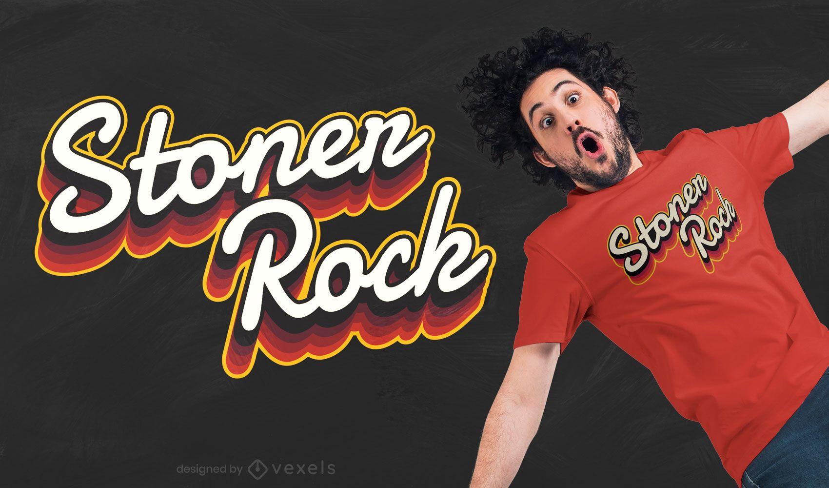 Stoner rock t-shirt design