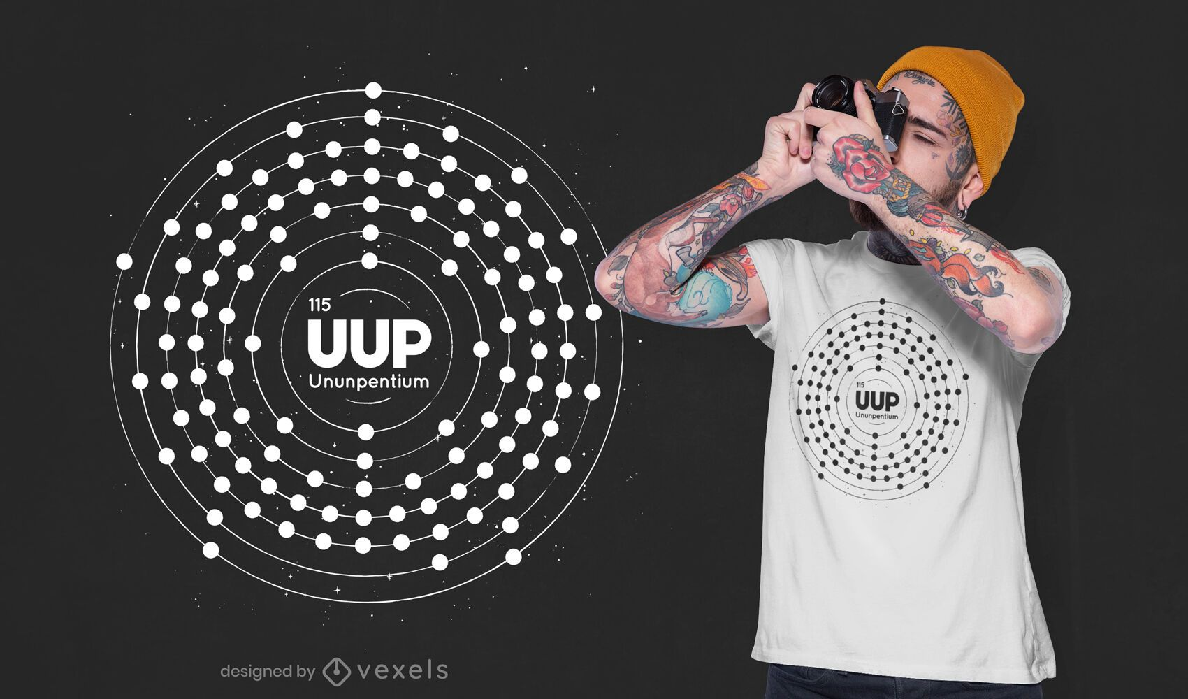 Radioactive element t-shirt design