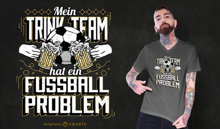 Diseño de camiseta de cerveza del equipo de fútbol.