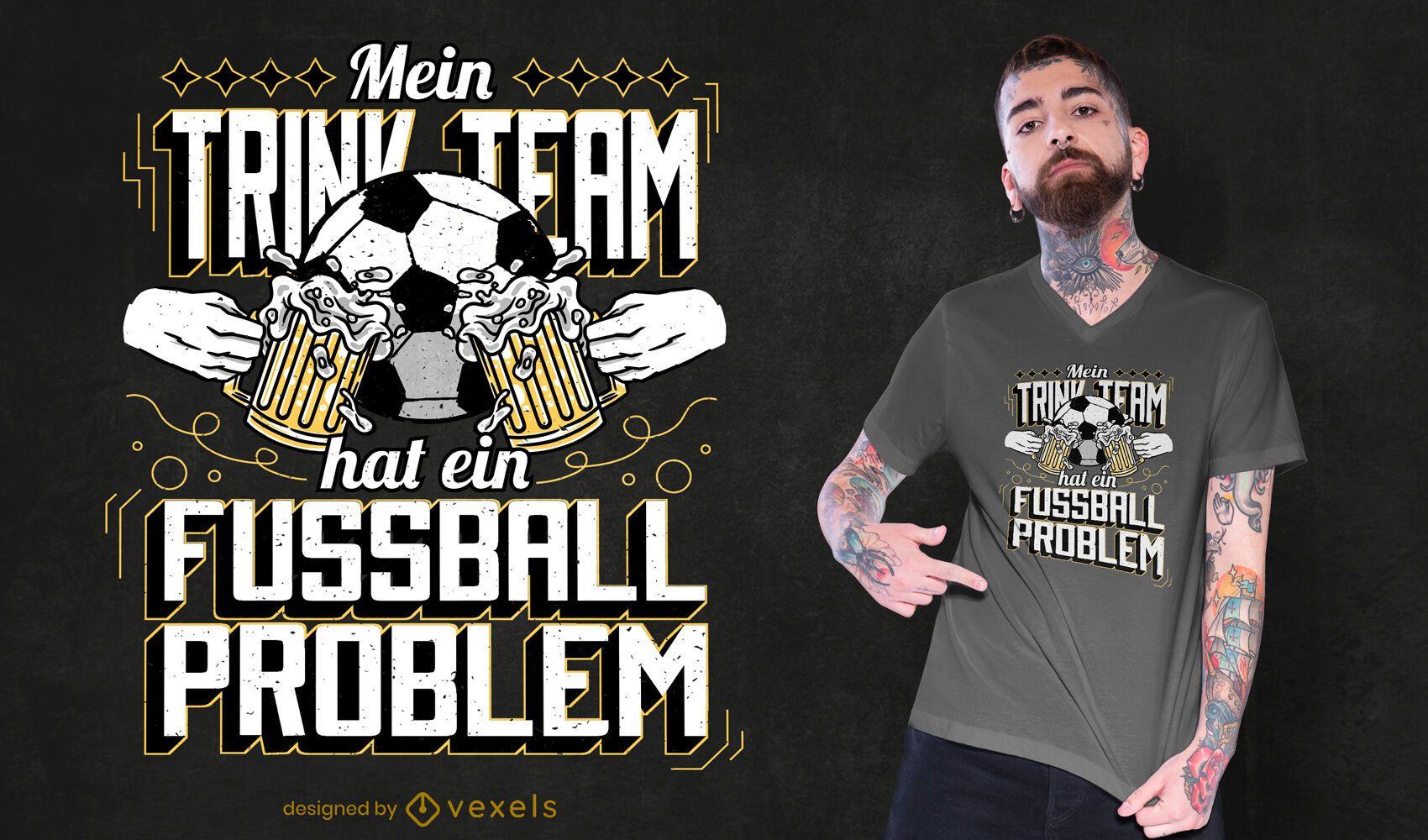 Fußballmannschaft Bier T-Shirt Design