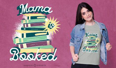 Diseño de camiseta de letras vintage de pila de libros