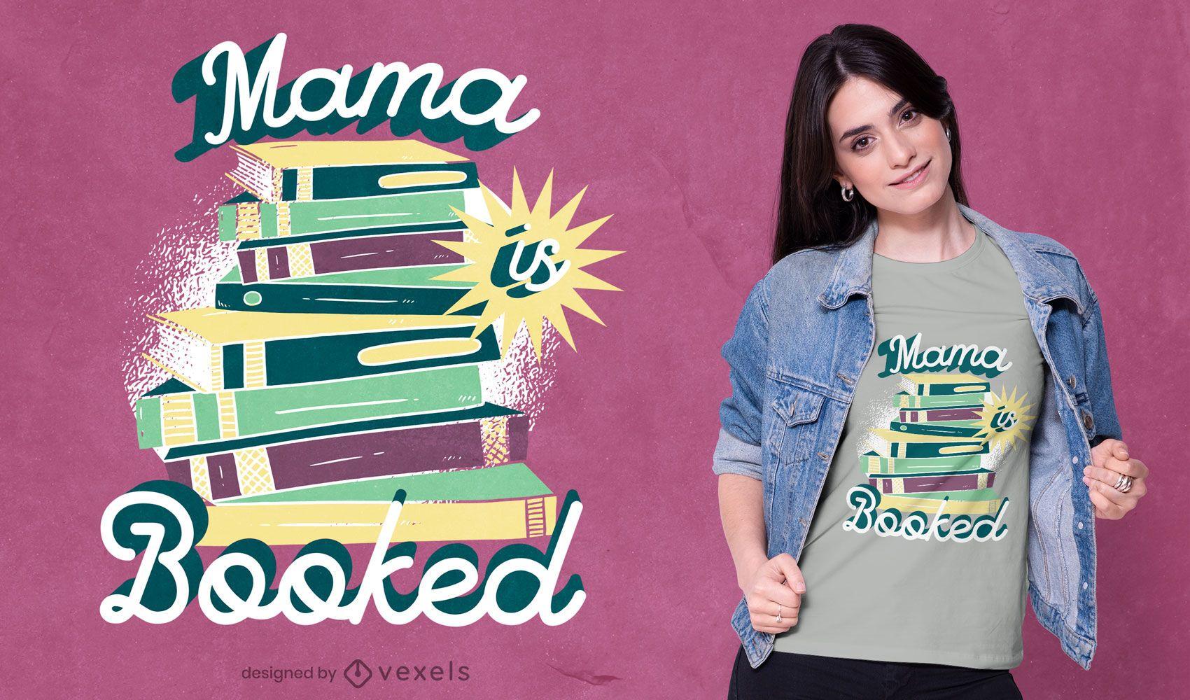 Book pile vintage lettering t-shirt design